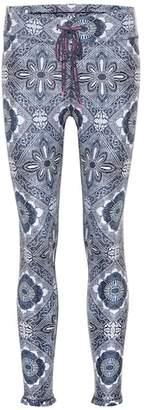 The Upside Printed frill-hem leggings