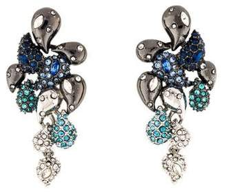 Alexis Bittar Crystal Encrusted Ombre Paisley Post Earrings