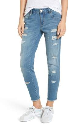 1822 Denim Rip & Repair Ankle Skinny Jeans