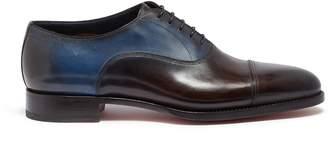 Santoni Colourblock leather Oxfords