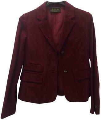 Loro Piana Burgundy Leather Jackets