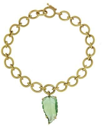 Irene Neuwirth One-Of-A-Kind Green Tourmaline Leaf Bracelet