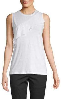 Proenza Schouler Ruffle Sleeveless Cotton Top