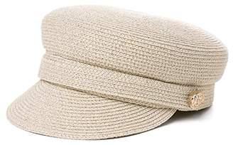 ede2c7d0950 BEIGE Jeff   Aimy Womens Straw Sun Hat Newsboy Cap Visor Beret Packable  Soft Breathable Fashion