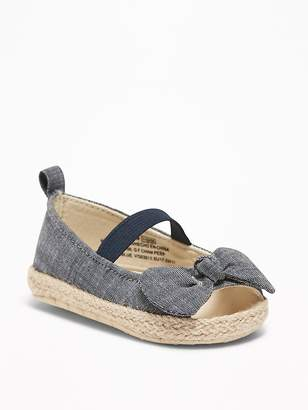 Old Navy Chambray Peep-Toe Espadrilles for Baby