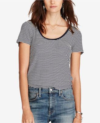 Denim & Supply Ralph Lauren Striped Scoop Neck T-Shirt $59.50 thestylecure.com