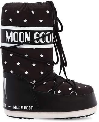Moon Boot Stars Printed Nylon Snow Boots