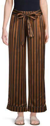 Gold Hawk Striped Wide-Leg Pant