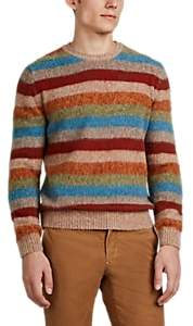 BEIGE S.MORITZ Men's Striped Brushed Wool Sweater - Beige, Tan