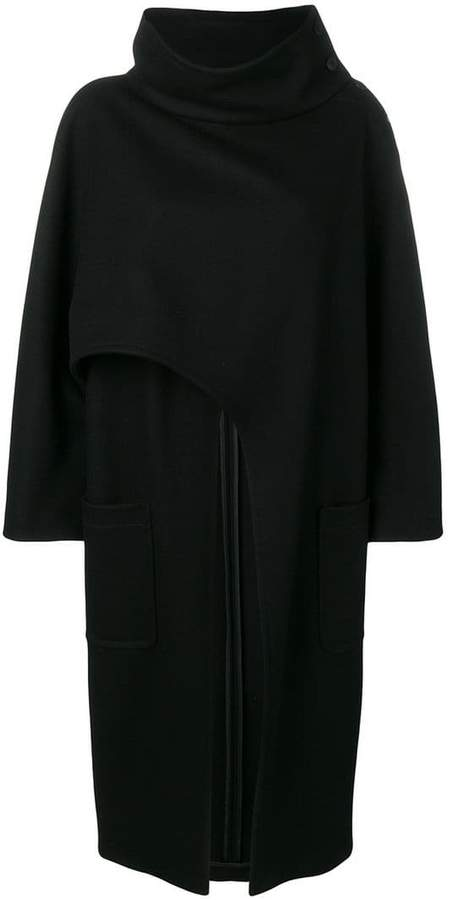 asymmetric lose cape coat