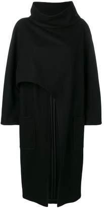 Alberta Ferretti asymmetric lose cape coat