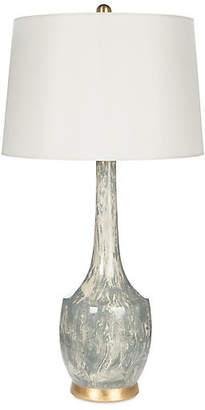 One Kings Lane Bradburn Home For Harlow Marble Table Lamp - Gray/Off-White