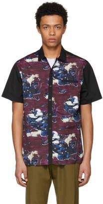 Lanvin Black and Purple Bowling Shirt