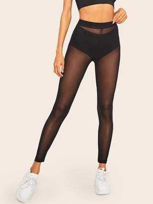 210b854da11d Shein Sheer Mesh Leggings Without Panty