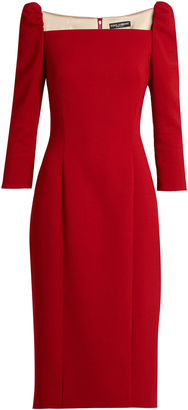 DOLCE & GABBANA Square-neck stretch-wool pencil dress $2,445 thestylecure.com