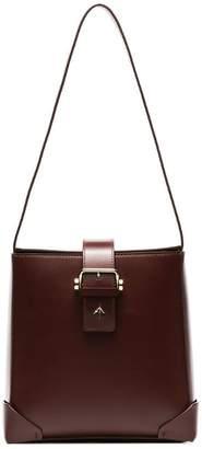 Atelier Manu burgundy Trapeze leather bag