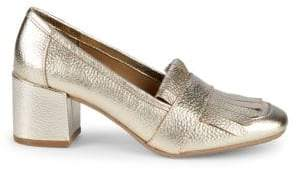 Kenneth Cole Reaction Michelle Kiltie-Top Pebbled Loafers