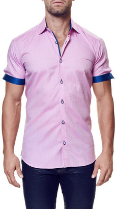 Maceoo Fresh Elegance Short Sleeve Contemporary Fit Shirt (Big & Tall Available) $169 thestylecure.com