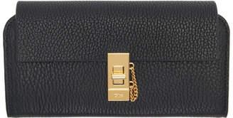 Chloé Black Drew Flap Long Wallet