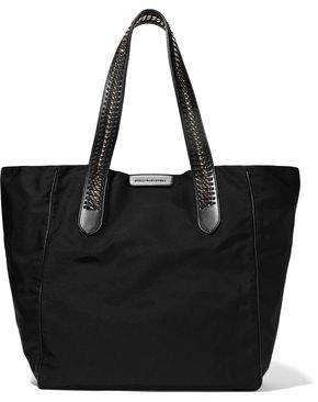 Stella McCartney Faux Leather And Chain-Trimmed Twill Tote