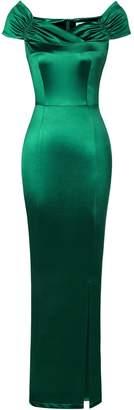 MUXXN Women's Vintage Style Split Flattering Evening Formal Dress ( L)