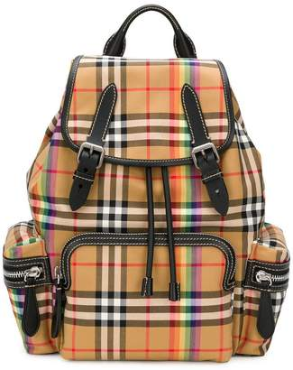 Burberry rainbow check rucksack