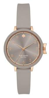Kate Spade Park Row Three-Hand Silicone Watch