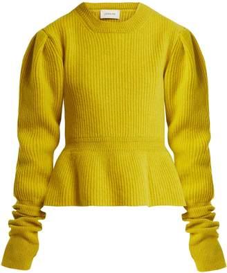 Lemaire Peplum-hem ribbed-knit wool sweater