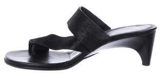 Donald J Pliner Suede Slide Sandals