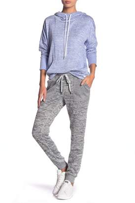 Andrew Marc Marled Knit Long Jogger Sweats