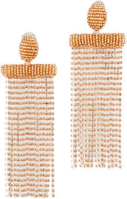 Oscar de la Renta Waterfall Tassel Clip Earrings