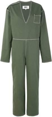 MM6 MAISON MARGIELA V-neck belted jumpsuit