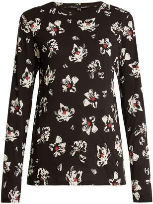 Proenza Schouler Floral-print long-sleeved cotton-jersey top