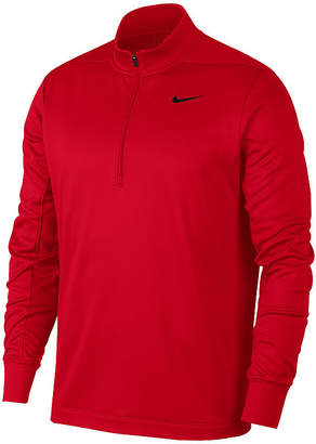 Nike Mens Mock Neck Long Sleeve Quarter-Zip Pullover