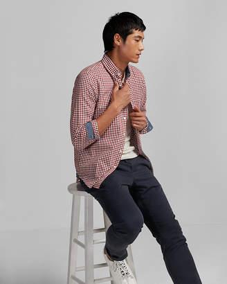 Express Soft Wash Check Button Collar Shirt