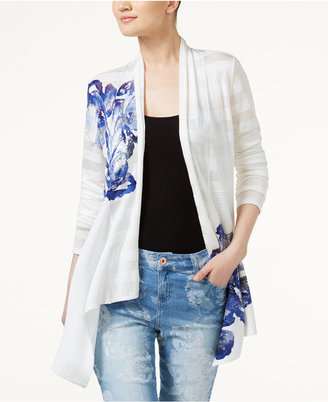 Inc International Concepts Floral-Print Cardigan, Only at Macy's $89.50 thestylecure.com