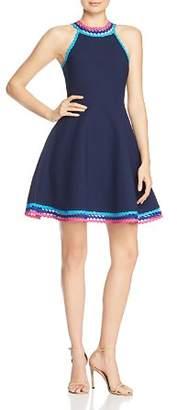 Milly Trimmed Skater Dress