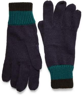 Topman Stripe Cuff Knit Gloves