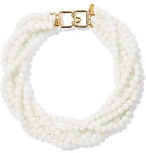 Kenneth Jay Lane Gold-Tone Beaded Necklace