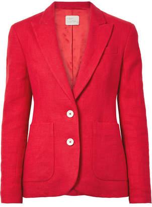 Hillier Bartley - Linen Blazer - Crimson