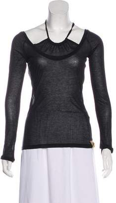 Diesel Halter Long Sleeve Top