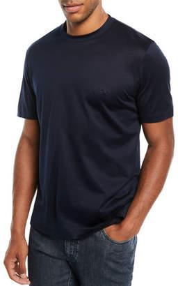 Brioni Men's Solid Cotton T-Shirt