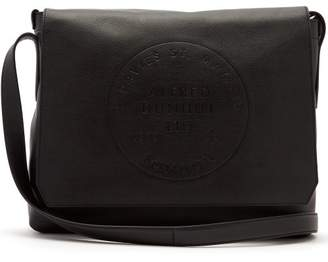 Dunhill Chiltern Logo Debossed Leather Bag - Mens - Black