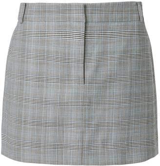 Tibi Cooper Check Mini Skirt