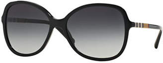 Burberry Check Block 56mm Butterfly Sunglasses