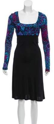 Emilio Pucci Long Sleeve Midi Dress