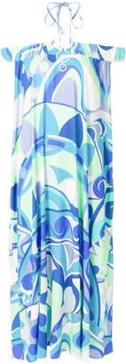 Emilio Pucci Nigeria-print off-the-shoulder dress