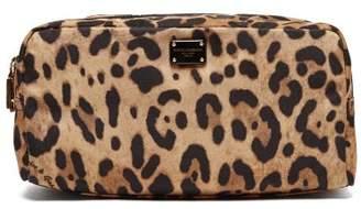 Dolce & Gabbana Leopard Print Logo Wash Bag - Womens - Leopard