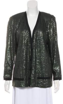 7cd76e19 Robert Rodriguez Sequin Collarless Blazer