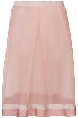 Moncler sheer panelled skirt